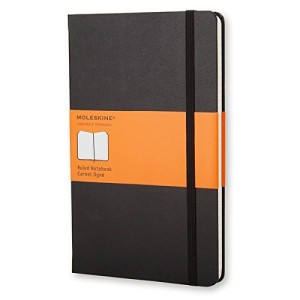 Moleskine Classic Notebook, Large, Ruled, Black, Hard Cover (5 x 8.25 inches)